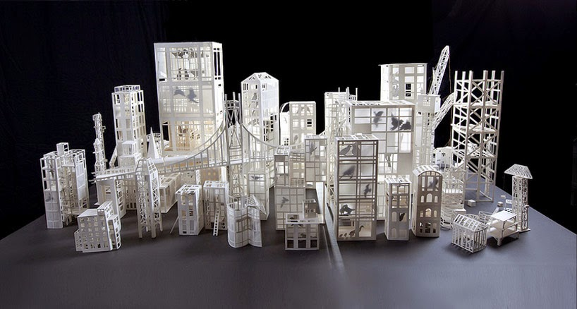 simply creative cut paper sculptures by stephanie beck. Black Bedroom Furniture Sets. Home Design Ideas
