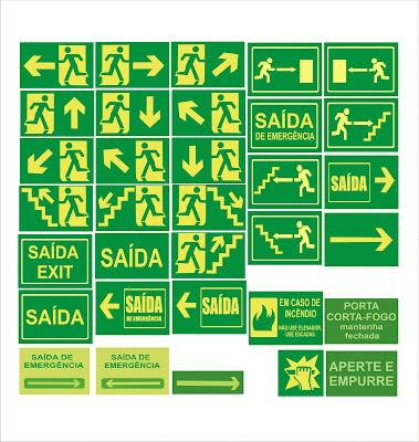 Saídas de emergência e segurança para empresas.
