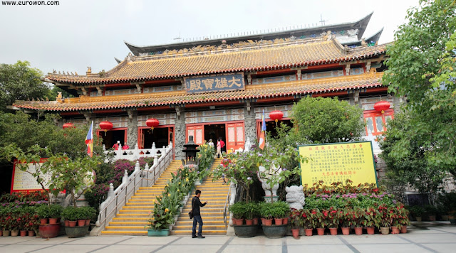 Edificio principal del monasterio Po Lin de Hong Kong