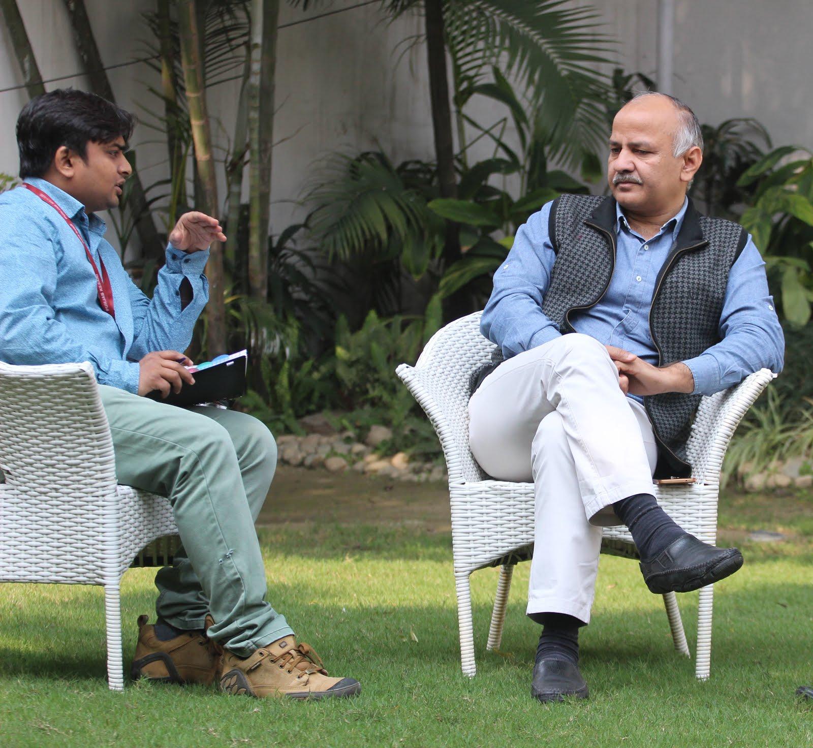 दिल्ली के उपमुख्यमंत्री मनीष सिसोदिया से सरकार की दूसरी वर्षगांठ पर विशेष साक्षात्कार