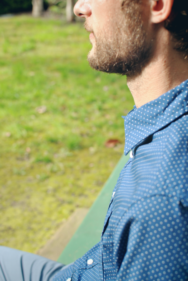 men's pindot shirt