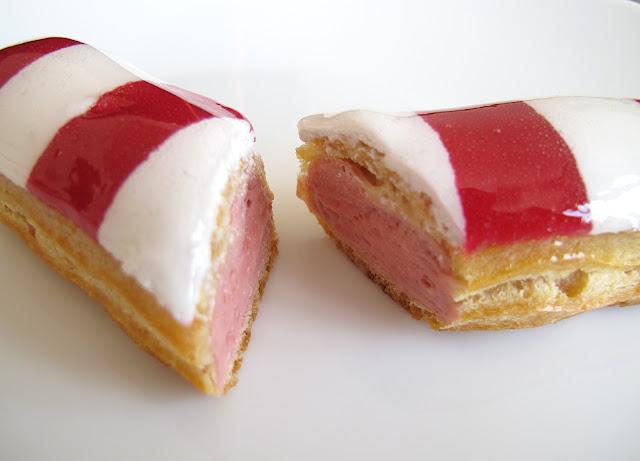 Pâtisserie Fauchon Paris - Eclair fraise mara des bois