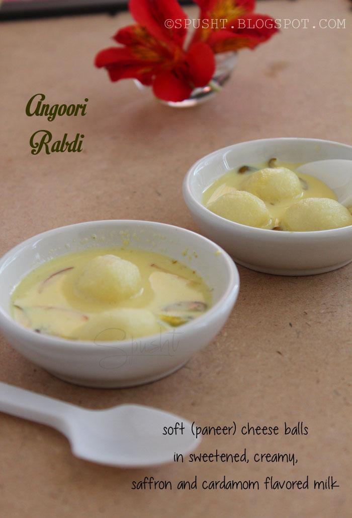 Spusht | Angoor Rabri Recipe | Chhena Balls in Milk Sauce