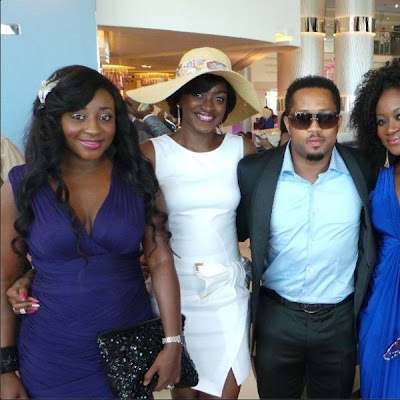 Ini Edo, Kate Henshaw, Mike Ezuronye at 2fac's wedding