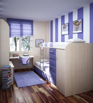 foto dormitorio con literas para niñas