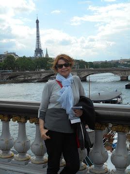 Rio Sena ao fundo a Torre Eiffel