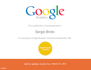Certificado Google Analytics