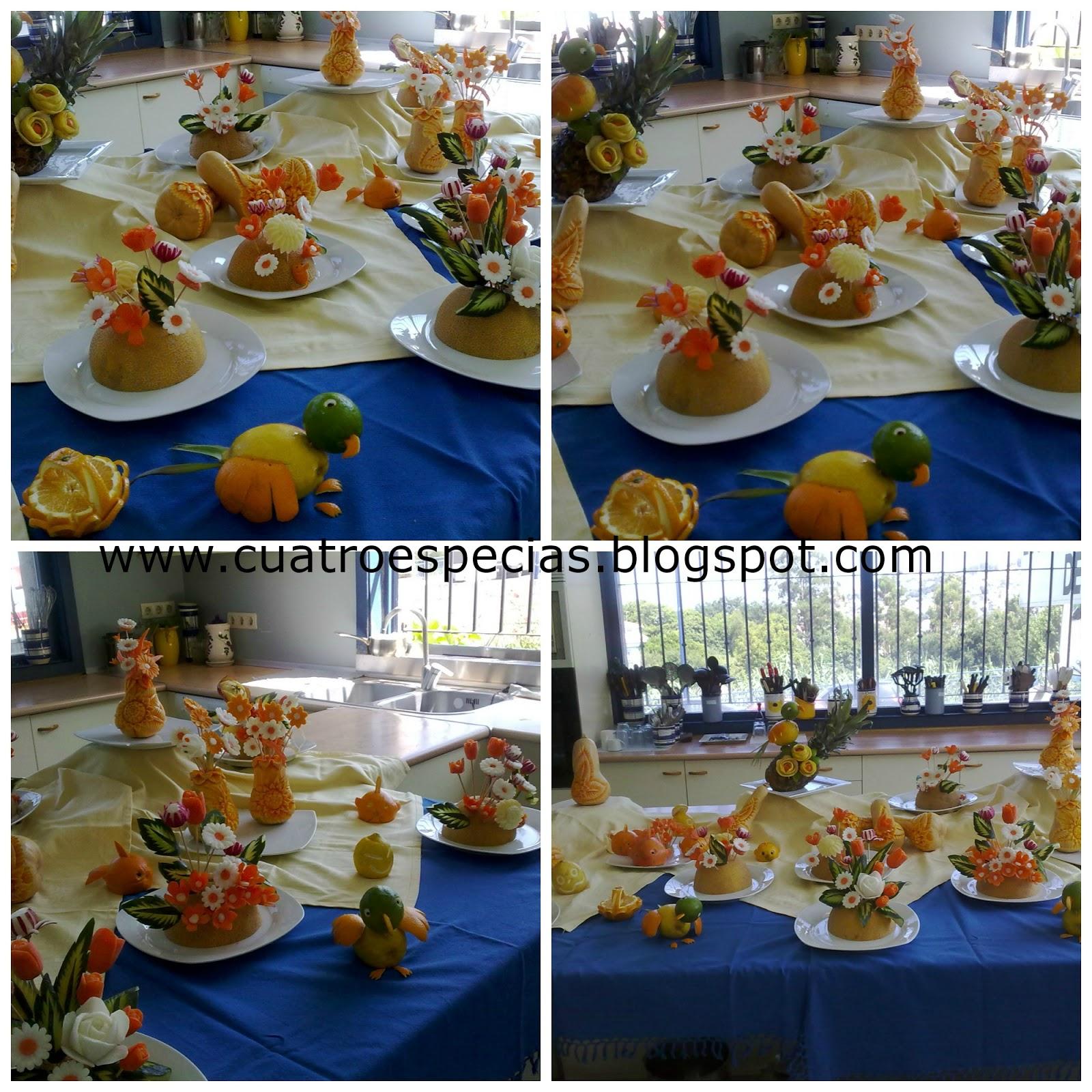 Cuatro especias por elena zulueta de madariaga tallado for Decoracion con verduras