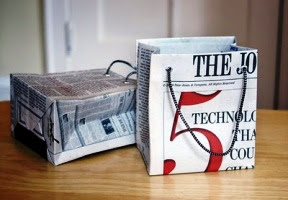 Kerajinan Tangan Dari Koran Bekas, Tas Kertas