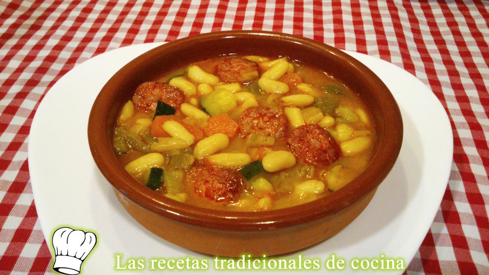Como Cocinar Alubias | Receta De Alubias Blancas Con Chorizo Y Verduras Recetas De
