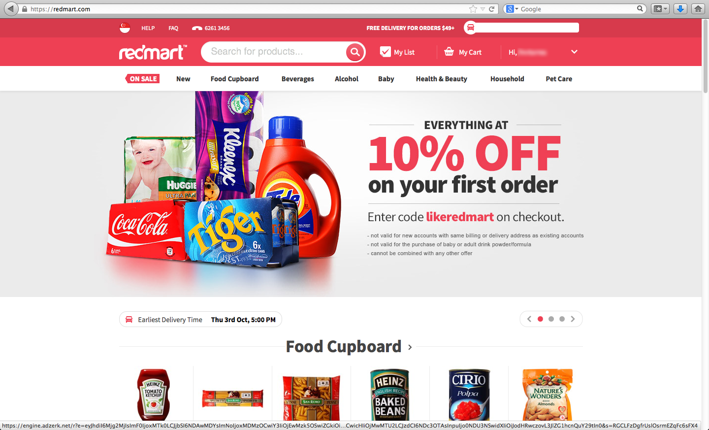 Vodkarouge 8 reasons why i will buy from redmart my for Best online store website
