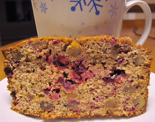 tropical cranberry orange nut bread
