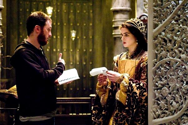 Darren Aronofsky y Rachel Weisz en el set de La fuente de la vida