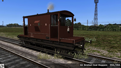 Fastline Simulation - Bonus Stock: A recently repainted dia 1/506 BR 20T brake van from lot 3129 built at Darlington in 1958 and currently fitted with a through vacuum pipe. This version is one of a number of 20T brake vans included in our HBA/HEA hopper wagon expansion pack for Train Simulator 2014 to help add variety and authenticity to the scenarios in the pack.