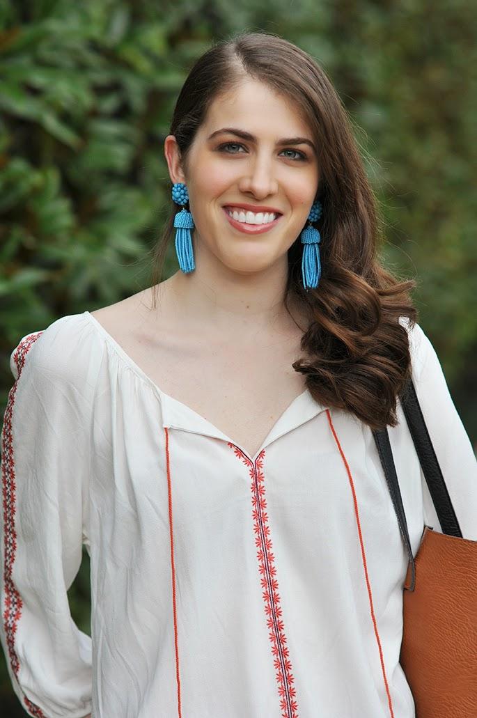 Lisi Lerch turquoise tassel earrings