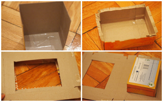 how to make tissue box and cereal box cowboy hat