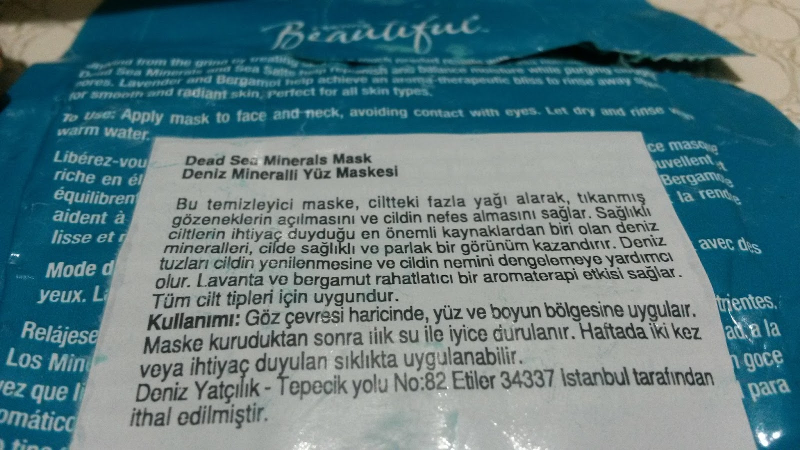 FREEMAN FACIAL ANTI-STRES MASK/ DENİZ MİNERALLİ YÜZ MASKESİ