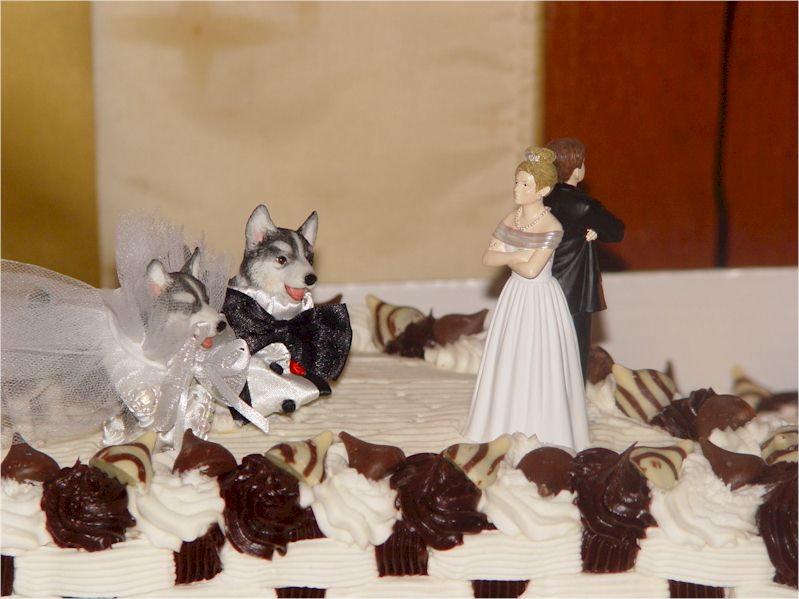 Cake topper possibilities are endless There are those with sculpted dogs