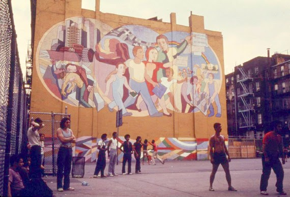 New york city of 1975 vintage everyday for Telephone mural 1970