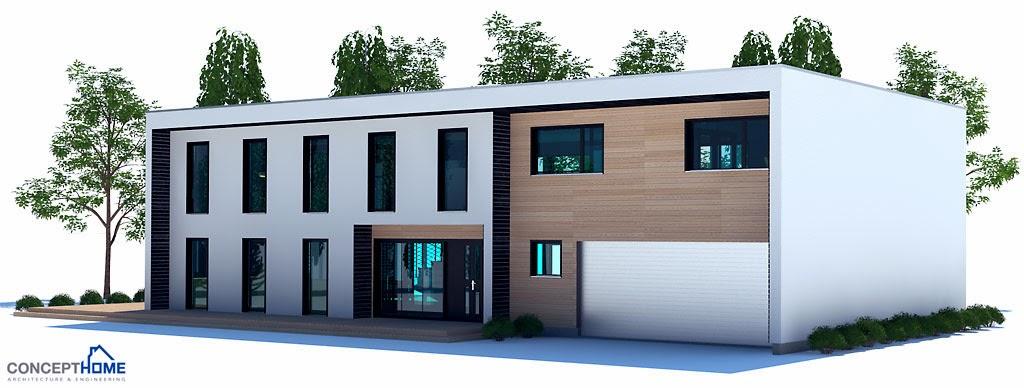 Plantas de casas modernas planta de casa moderna ch203 for Plantas casas modernas
