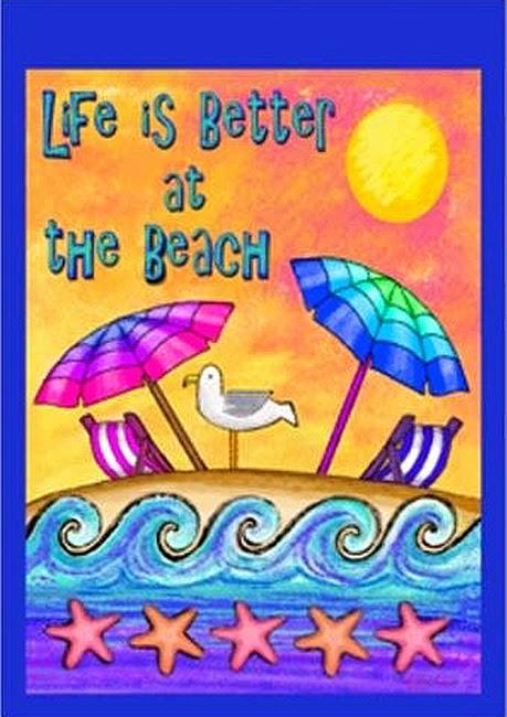 life is better at the beach garden flag