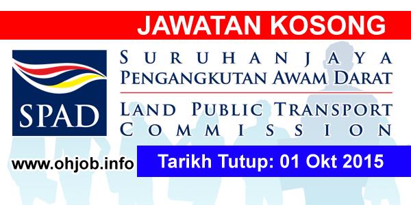 Jawatan Kerja Kosong Suruhanjaya Pengangkutan Awam Darat (SPAD) logo www.ohjob.info oktober 2015