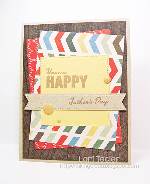 Happy Father's Day card-designed by Lori Tecler/Inking Aloud-stamps from Verve Stamps