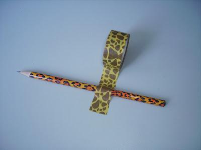 bleistift leopard muster