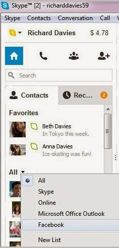 Pesan Instan Facebook in Skype