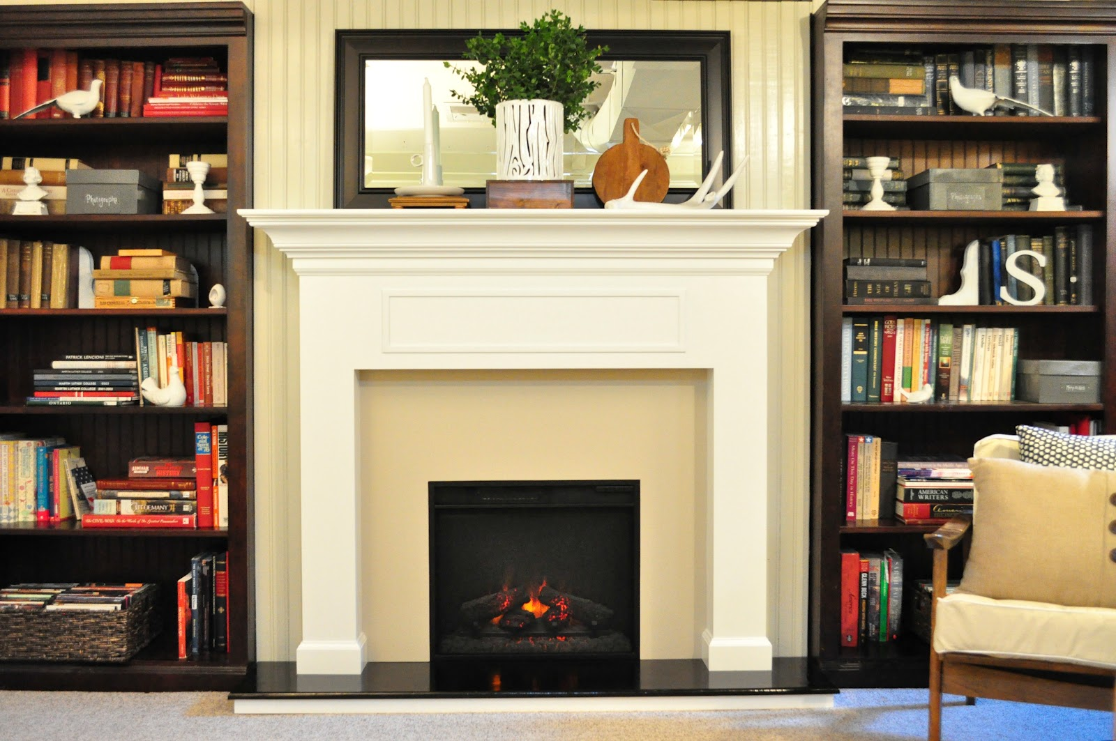 Faux Fireplace Insert Just So Lovely A Fireplace Tutorial