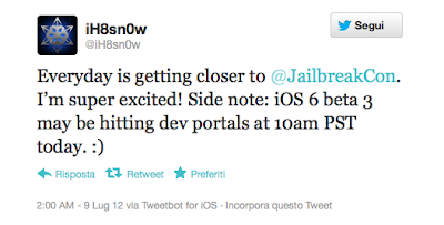 IOS 6 beta 3 could be released today at 10:00 Pacific Time.