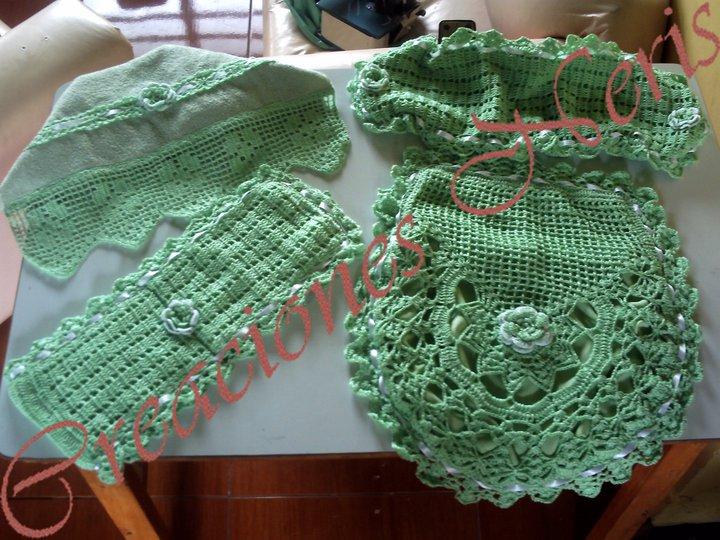 Juegos De Baño A Gancho:etiquetas crochet juego de baño tejido juego de baño a crochet