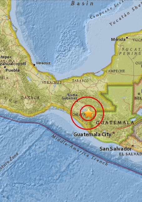 Magnitude 4.4 Earthquake of Chicomuselo, Mexico 2015-05-04