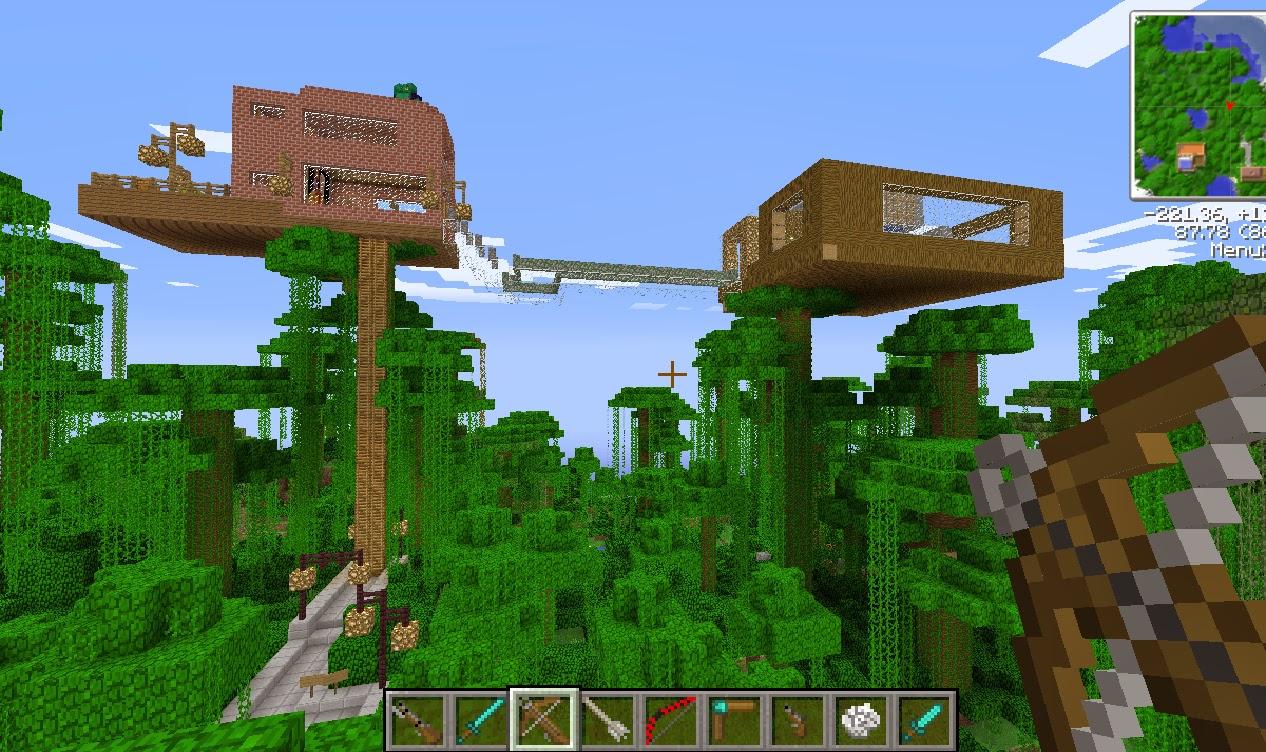 Incre ble casa del rbol minecraft descarga minemundo for Minecraft casas de lujo