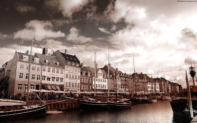 Copenhagen Wonderful Nyhavn Canal Danish Beautiful Harbour City Denmark Hd Desktop Wallpaper