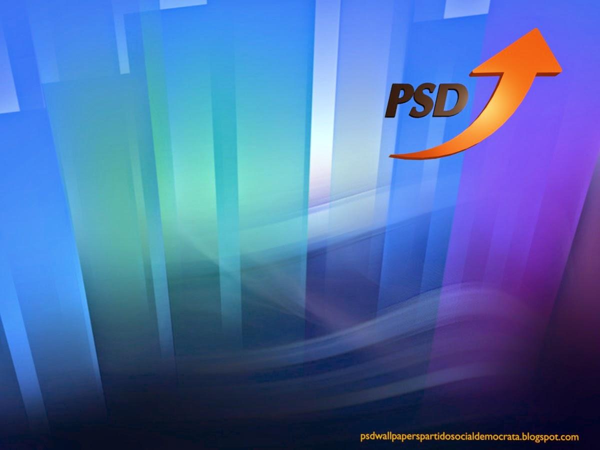 Fundo de ecrã do Partido Social Democrata. Logotipo Seta do PSD emblema de frente do PSD em fundo de tela Paisagem de Cristal