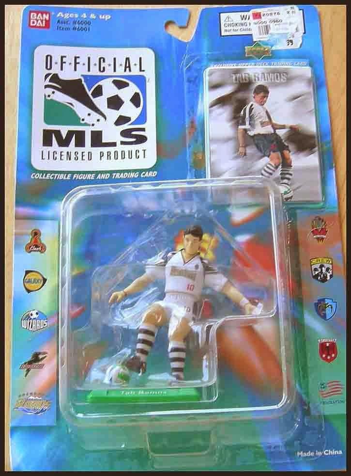 1996 Ban Dai MLS Soccer John Harkes DC United Action Figure Upper Deck Card