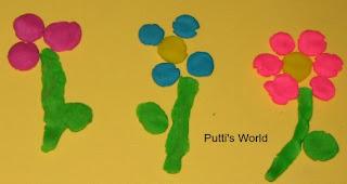Kids Flower Spring Crafts Playdough