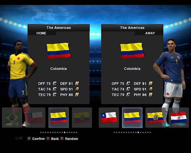 Colômbia 2012/13 Kitset - PES 2013