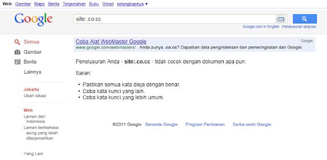 Hasil SERP Google Indonesia untuk Semua Domain co.cc border=