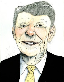 ronald reagan caricature by ammon perry