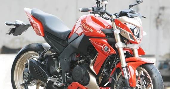 motor drag ninja modif yamaha byson dengan bodi desain