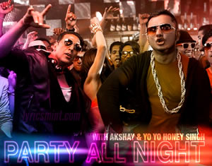 Party All Night - Boss Song starring Honey Singh & Akshay Kumar