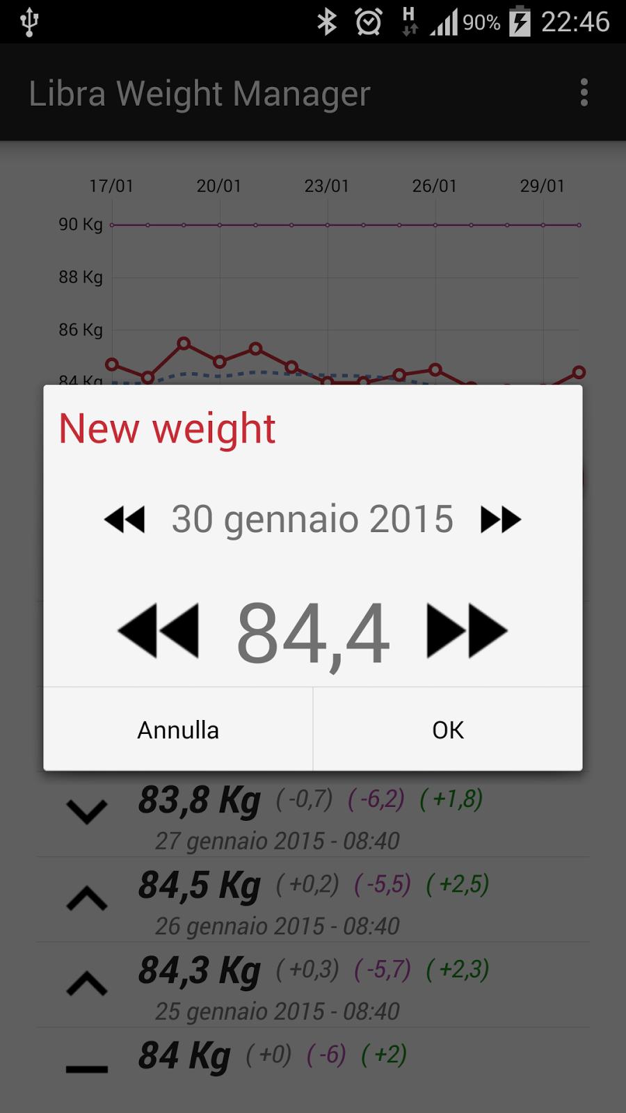 weight tracker app