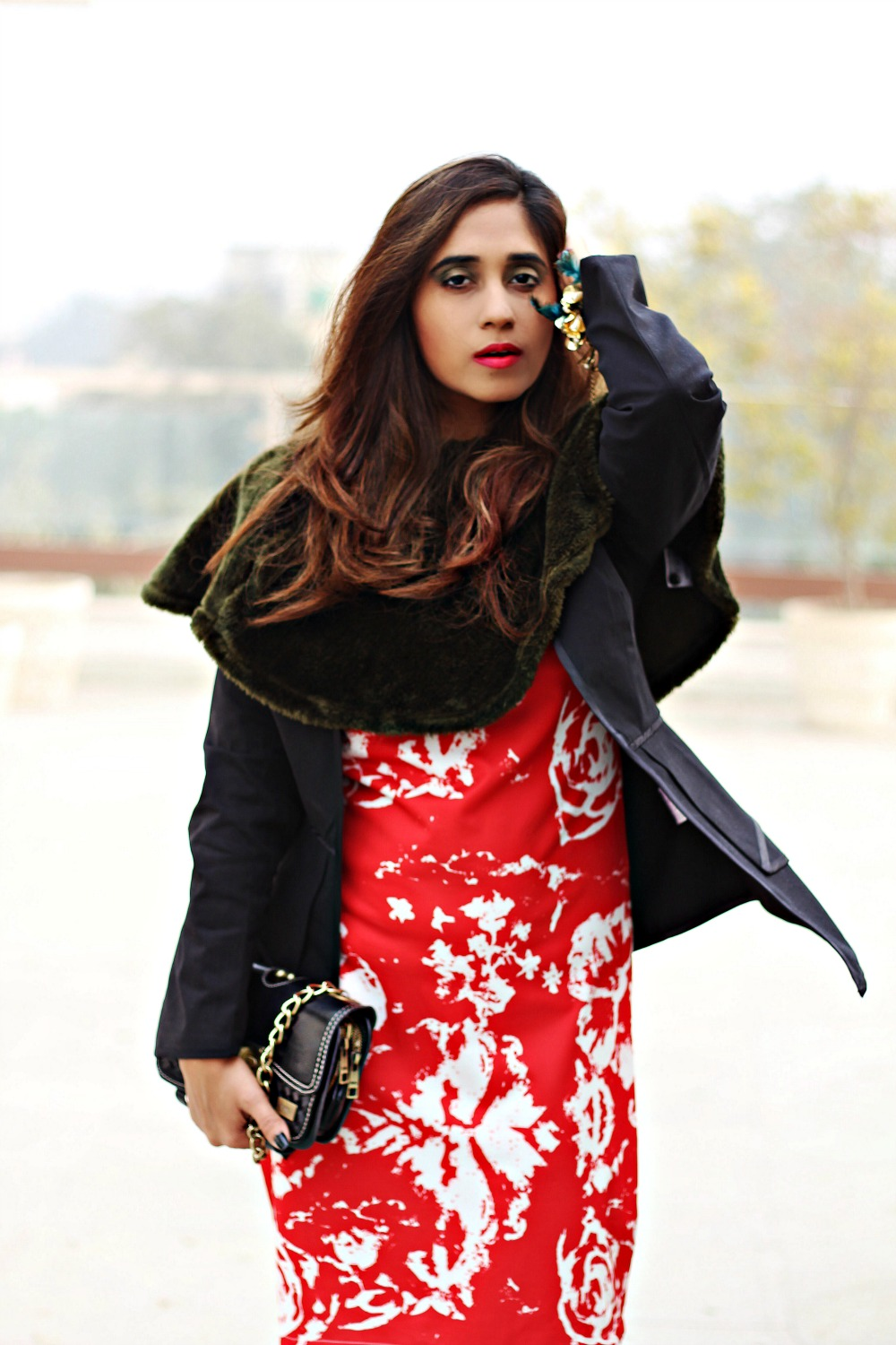 glamourous evening party looks with koovs asos blazer and fur