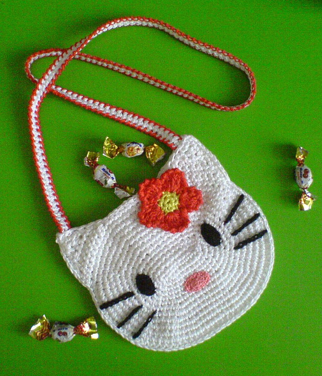 Crochet Purse Patterns Hello Kitty : Crochet Hello Kitty Purses