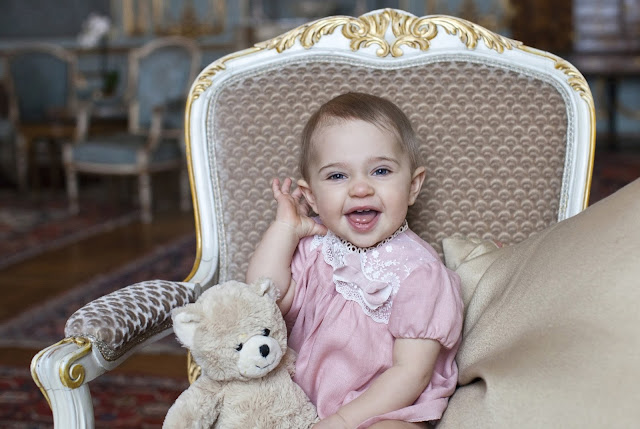 H.R.H. Princess Leonore of Sweden today celebrates her first birthday, Princess Madeleine and Mr. Christopher O'Neill.