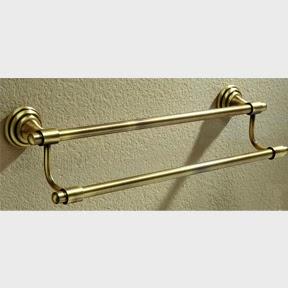 toallero doble rustico oro