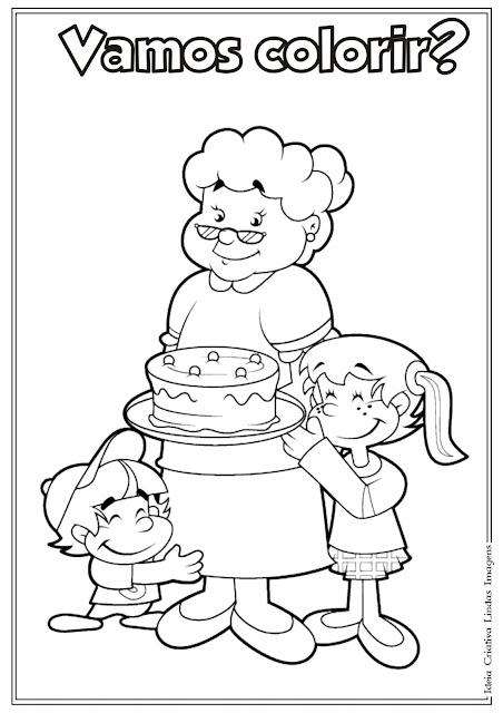 Desenho de Dia dos Avós para colorir