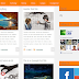 Grid Mag Orange Template